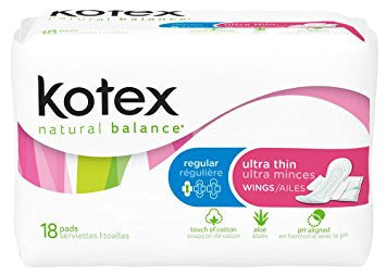 Kotex Ultra Thin Pads with Wings, 12 Units x 18 Pads (216 total)