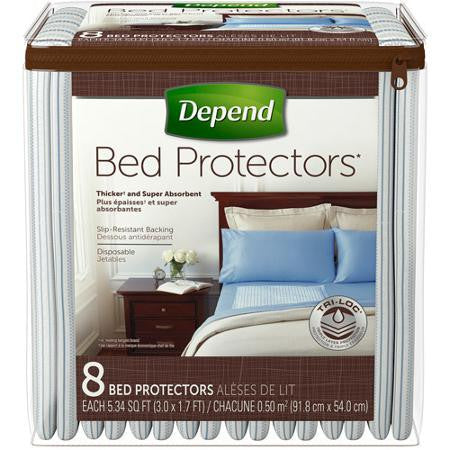 Depend Bed Protectors, 8 ea