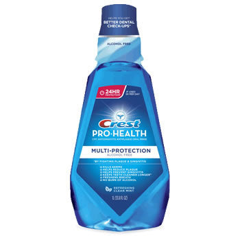 Crest Pro-Health Multi-Protection Refreshing Clean Mouthwash, Clean Mint, 250 ml, LIMITED QUANTITY REMAINING