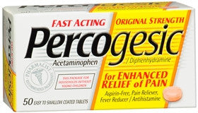 Percogesic Original Strength, 50 tablets