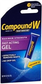 Compound W Maximum Strength Wart Remover, Fast-Acting Gel, 0.25 oz