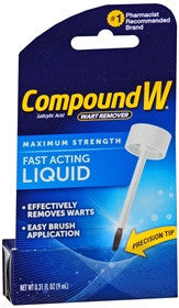 Compound W Maximum Strength Wart Remover, Fast-Acting Liquid, 0.31 oz