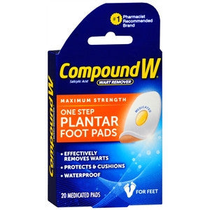 Compound W,  1-Step Plantar Wart Remover Pads, 20 pads