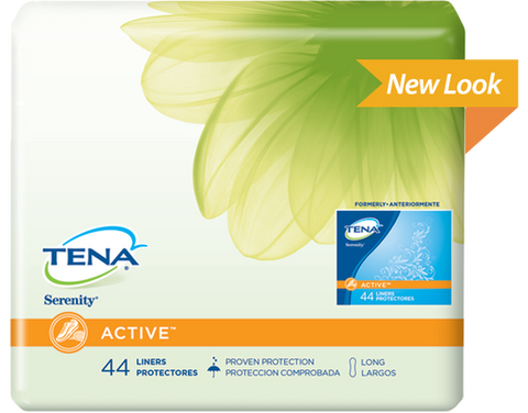 TENA Serenity ACTIVE Liners Long, 144 liners