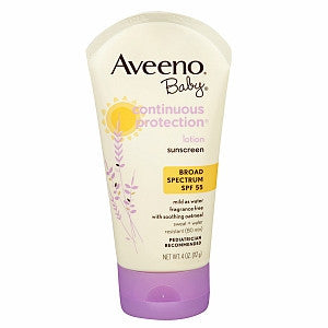 Aveeno Baby Continuous Protection Lotion Sunscreen, SPF 55, 4 oz