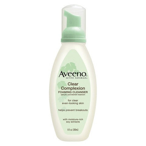 Aveeno Clear Complexion Foaming Cleanser, 6oz