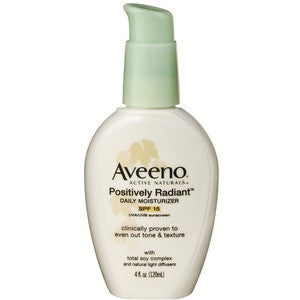 Aveeno Positively Radiant Daily Moisturizer SPF15, 4oz