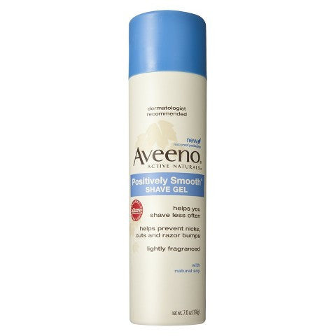 Aveeno Positively Smooth Shave Gel, 7oz