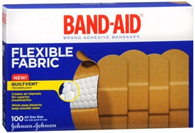 Band-Aid Flexible Fabric Adhesive Bandages, 100 ea