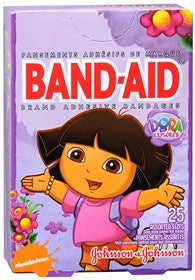Band-Aid Bandages, Dora the Explorer, Assorted Sizes, 25 count