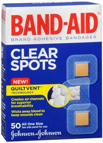 Band-Aid Clear Spots Adhesive Bandages, 50 ea