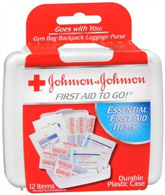 Johnson & Johnson Red Cross First Aid Kit To Go