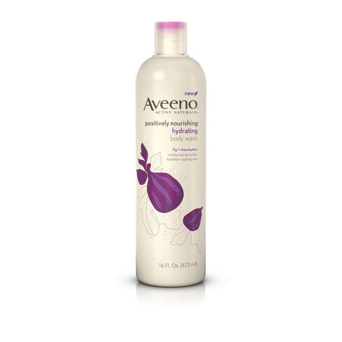 Aveeno Positively Nourishing Hydrating Body Wash, 16 oz
