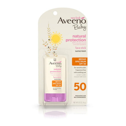 Aveeno Baby Natural Protection Face Stick SPF50, .5oz