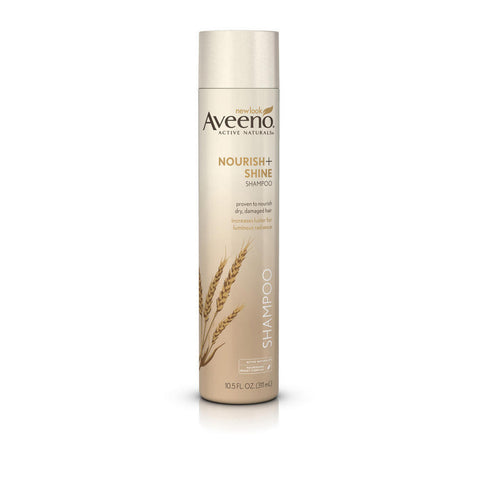 Aveeno Nourish+ Shine Shampoo, 10.5 oz
