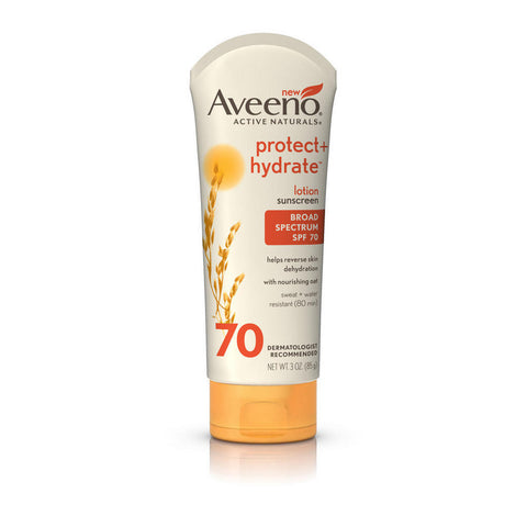 Aveeno Protect+ Hydrate Lotion Sunscreen SPF70, 3 oz