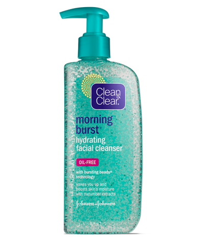 Clean & Clear Morning Burst Hydrating Facial Cleanser, 8 oz