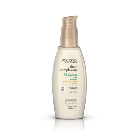 Aveeno Clear Complexion BB Cream SPF30, Medium, 2.5 oz