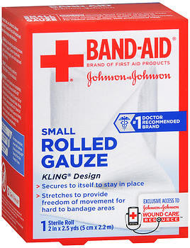 Band-Aid Rolled Gauze 2in x 2.5 yards