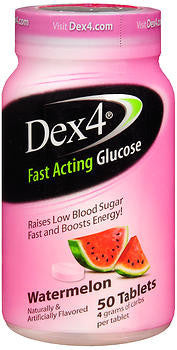 Dex4 Fast Acting Glucose, Watermelon, 50 tablets