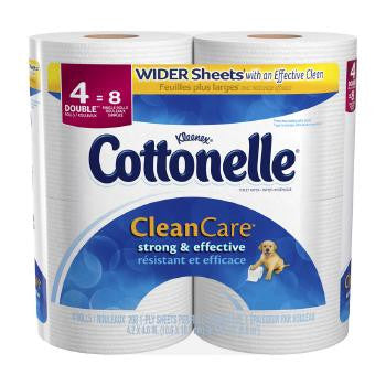 Cottonelle CleanCare Toilet Paper, 4 double rolls