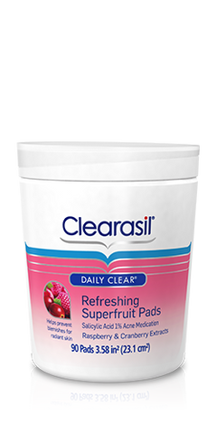 Clearasil Daily Clear Refreshing Superfruit Pads, 90 ea