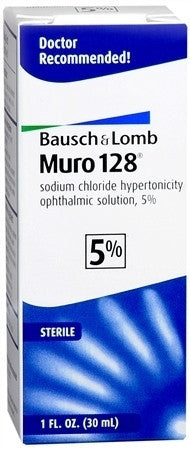 Bausch & Lomb Muro-128 Sterile Ophthalmic 5% Solution, 30 ml