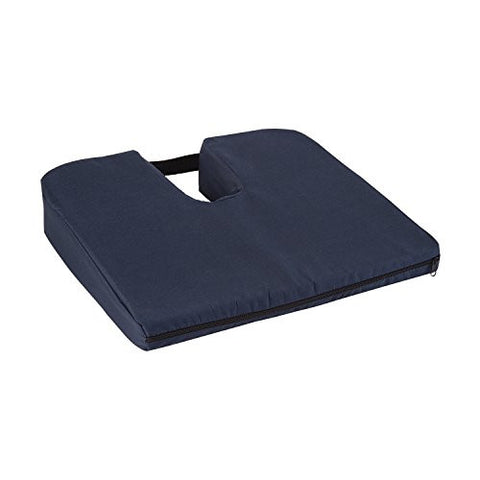 Mabis Healthcare Sloping Coccyx Cushion, Navy, 1 ea