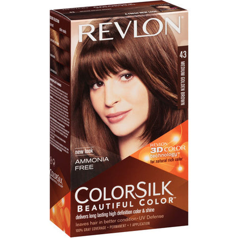 Revlon Colorsilk   Medium Golden Brown 43