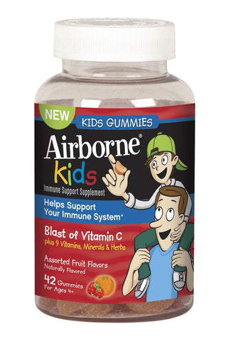 Airborne Immune Support Kids Gummies, Fruit Flavors, 42 ea - PlanetRx