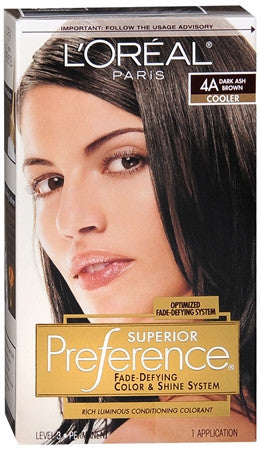 L'Oreal Preference  Dark Ash Brown 4A