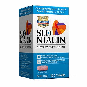 Slo-Niacin - To Reduce Flushing And Itching, 500 mg- 100 tab
