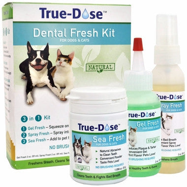 True-Dose Dental Fresh Kit 3in1 for Dogs & Cats