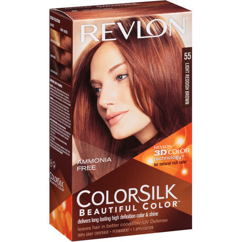 Revlon Colorsilk   Light Reddish Brown 55