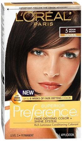 L'Oreal Preference   Medium Brown 5