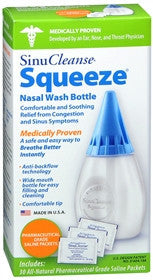 SinuCleanse Sqeeze Nasal Wash Bottle with 30 Saline Packets