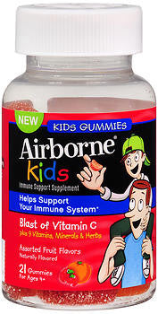 Airborne Immune Support Kids Gummies, Fruit Flavors, 21 ea - PlanetRx