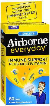 Airborne Everyday Immune Support + Multivitamin, 60 tablets - PlanetRx