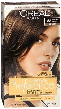 L'Oreal Preference   Light Ash Brown  6A