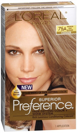 L'Oreal Preference   Medium Ash Blonde 7 1/2 A