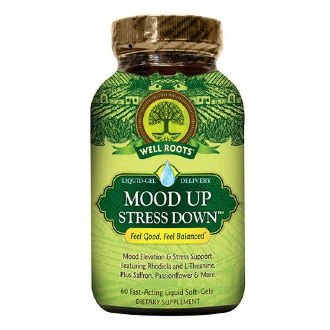 Well Roots Mood Up Stress Down, 60ct