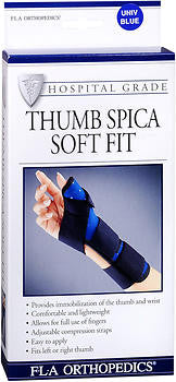 FLA Orthopedics, Inc. Thumb Spica Soft Fit, Navy, 1 ea