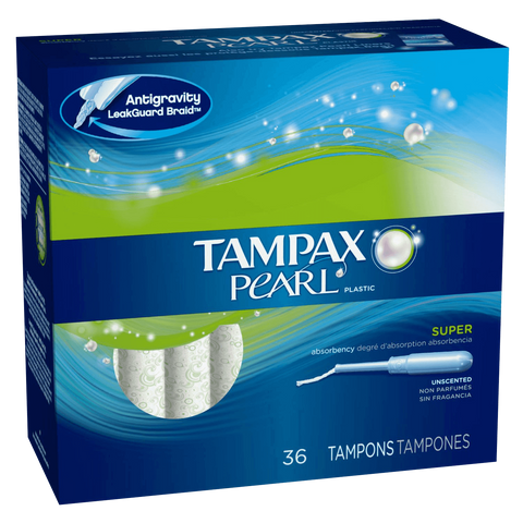 Tampax Pearl, Super, Unscented, 36 ea