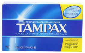 Tampax Tampons, Regular, 10 ea
