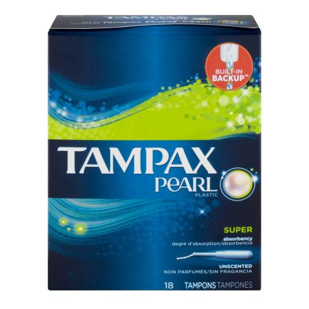 Tampax Pearl, Super, Unscented, 18 ea