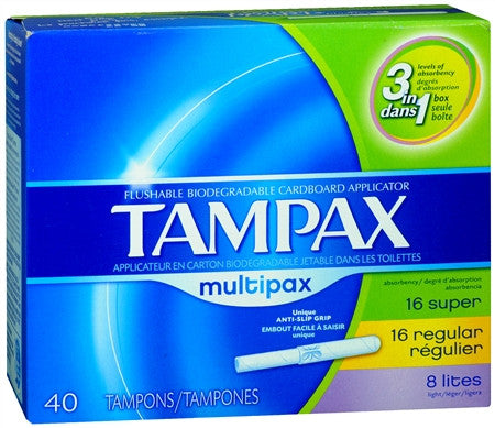 Tampax Tampons Multipax, 40 ea