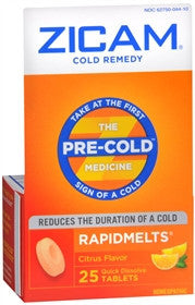 Zicam RapidMelts Cold Remedy, 25 ea