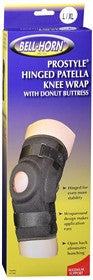 Bell Horn Knee Wrap Hinged ProStyle, Black, L/XL