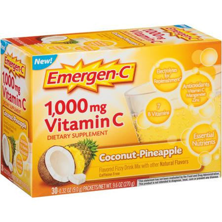 Emergen-C Coconut Pineapple, 30 packets