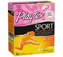 Playtex Sport Fresh Balance, Regular, 16 ea